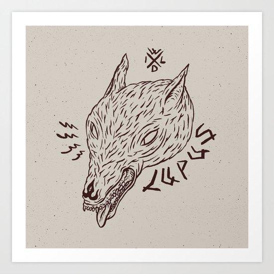 wildbeasts #3 - LUPUS Art Print