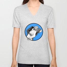 This is Z-Day - The Happy Couple (blue window) Unisex V-Neck