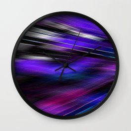 Re-Created  Feather ix by Robert S. Lee Wall Clock