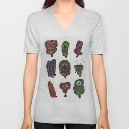 Ghoul Head Gallery Unisex V-Neck