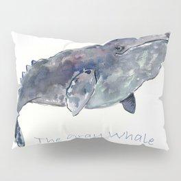 Gray Whale Pillow Sham
