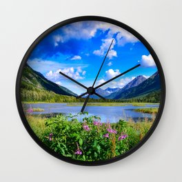 God's Country - IV, Alaska Wall Clock
