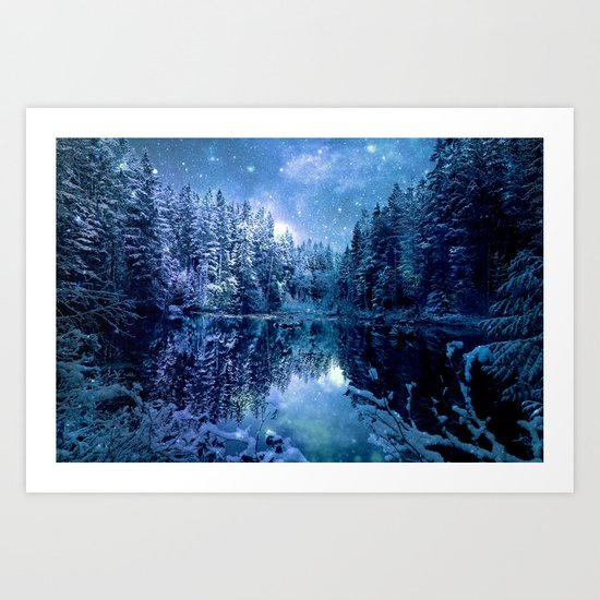 Magical Wintry Forest Art Print