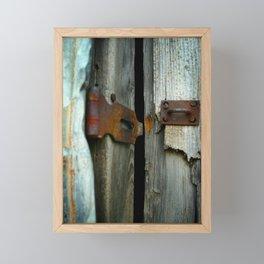 Lock Down Framed Mini Art Print