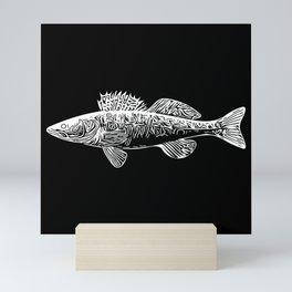 Zander - Zander Fishing For The Cool Dad Mini Art Print