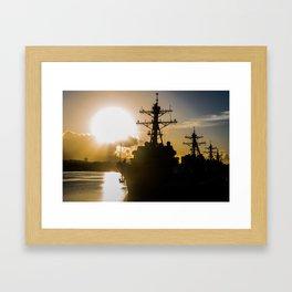 Pearl Harbor Sunrise Framed Art Print