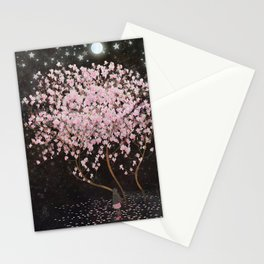 magnolia at night Stationery Cards