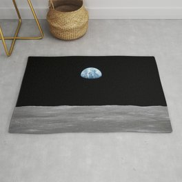 Earth rise over the Moon Rug