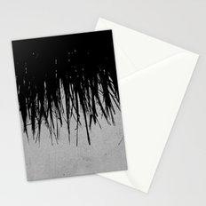 Concrete Fringe Black Stationery Cards
