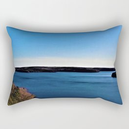 Aerial View of the Scituate Reservoir, Scituate, Rhode Island Rectangular Pillow