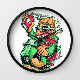 GREEN - Scooter Wall Clock