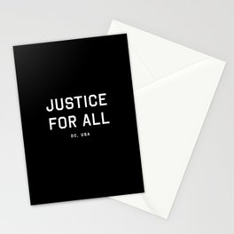 Justice For All - DC, USA (Black Motto) Stationery Cards