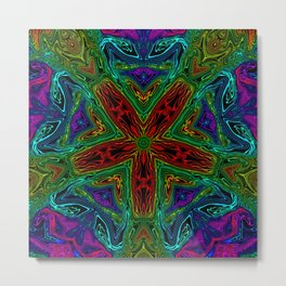 Rainbow Kaleidoscope 1 Metal Print