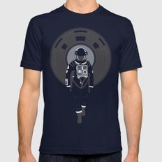 DJ HAL 9000 LARGE Navy Mens Fitted Tee