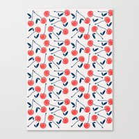 cherry Canvas Prints featuring Cherry  by Babiole Design