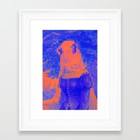 furry Framed Art Prints featuring Furry Streets by Tyler Spangler