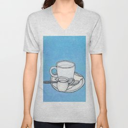 coffee and spoon Unisex V-Neck
