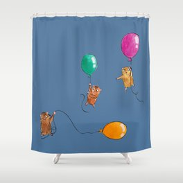 Sunk Shower Curtain