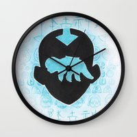 the last airbender Wall Clocks featuring The Last Airbender by Carmen McCormick