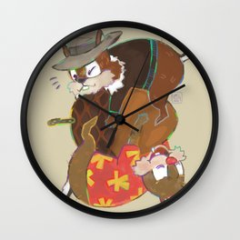 nutty love Wall Clock