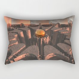 Reflections of Another Planet Rectangular Pillow