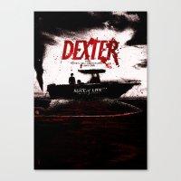 dexter Canvas Prints featuring Dexter by Dan K Norris