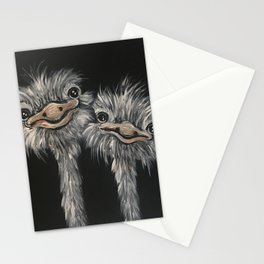 Ostrich Couple Stationery Cards