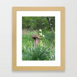 garden angel 1 Framed Art Print