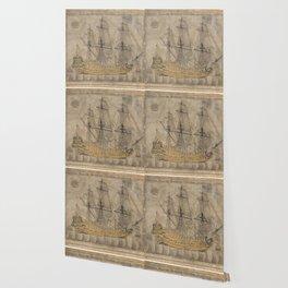 Ship by Abd al-Qadir Hisari 1776 Wallpaper