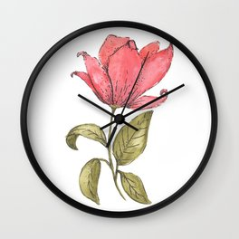 Flower Illustration / Magnolia Wall Clock