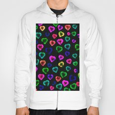 blurry hearts Hoody