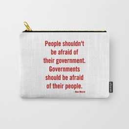 Alan Moore - Quote Carry-All Pouch