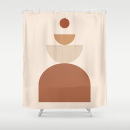 abstract series two (sand) Shower Curtain