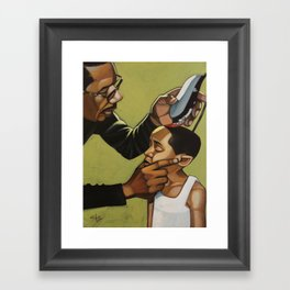 hold still son Framed Art Print