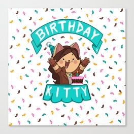 Birthday Kitty (2018) Canvas Print