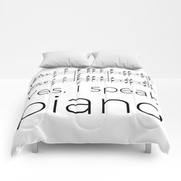 I speak piano Comforters