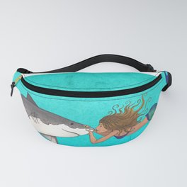 The Shark and the Mermaid Fanny Pack