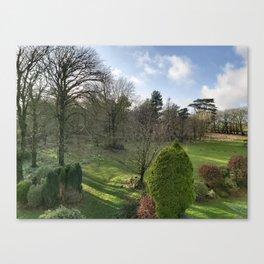 WINTER GARDEN DEVON Canvas Print