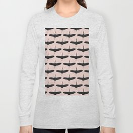 Black stork pattern Long Sleeve T-shirt