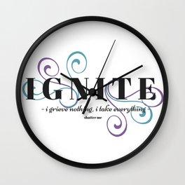 Ignite Me - White Wall Clock