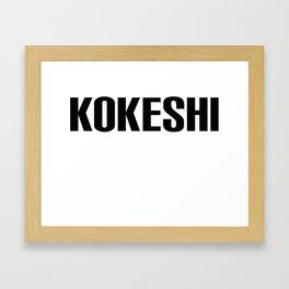 KOKESHI FONT DESIGN Framed Art Print