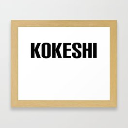 KOKESHI FONT DESIGN Framed Art Print