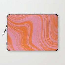 Liquid pink and orange Laptop Sleeve