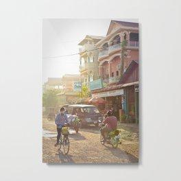Siem Reap, Cambodia – Afternoon Light Metal Print