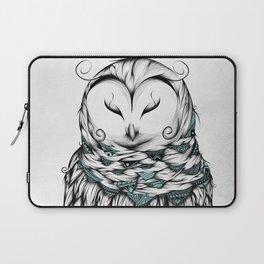 Poetic Snow Owl Laptop Sleeve