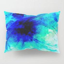 Orion Nebula Bright Blue Aqua Pillow Sham