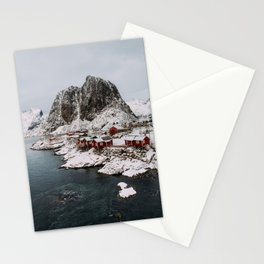 Winter in Hamnøy, Norway Stationery Cards