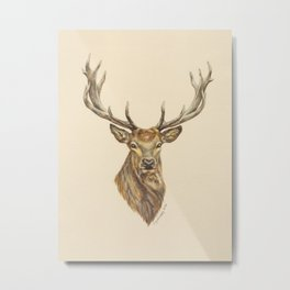 Red Stag Metal Print