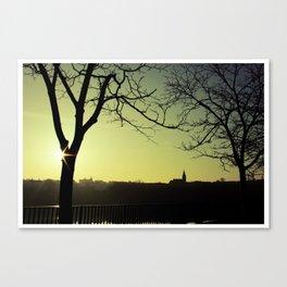 Derry Silhouette Canvas Print