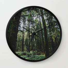 Undergrowth - Olympic National Park Wall Clock